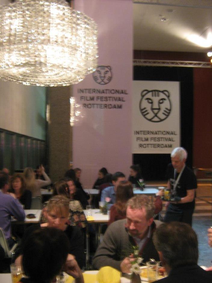 Delegates at De Doelen during the International Film Festival Rotterdam
